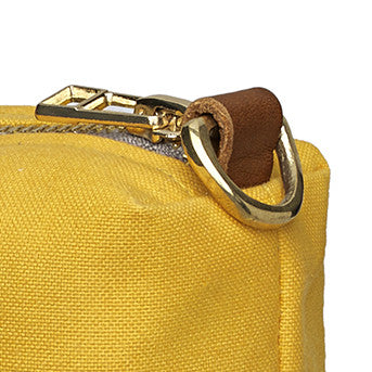Water and Stain Resistant Cotton Canvas Wash & Shaving Bag - Maize Yellow