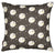Ceramic Geometric Pattern Linen Cotton Cushion in Stone Grey 45x45cm