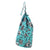 Corsica Floral Pattern Cotton Linen Laundry & Storage Bag Pacific Turquoise Blue ships from Canada (USA)