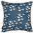 Geese Pattern Cotton Linen Cushion in Dark Petrol Blue 45x45cm