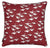 "Geese Bird Pattern Cotton Linen Decorative Throw Pillow in Dark Vermilion Red 45x45cm (18x18"")"