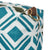 Glasswork Geometric Pattern Canvas Wash (toiletry) Bag in Turquoise Blue / Olive Green