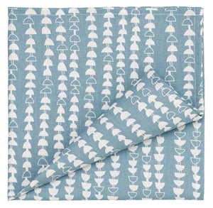 Hopi Patterned Cotton Linen Napkin in Light Chambray Blue