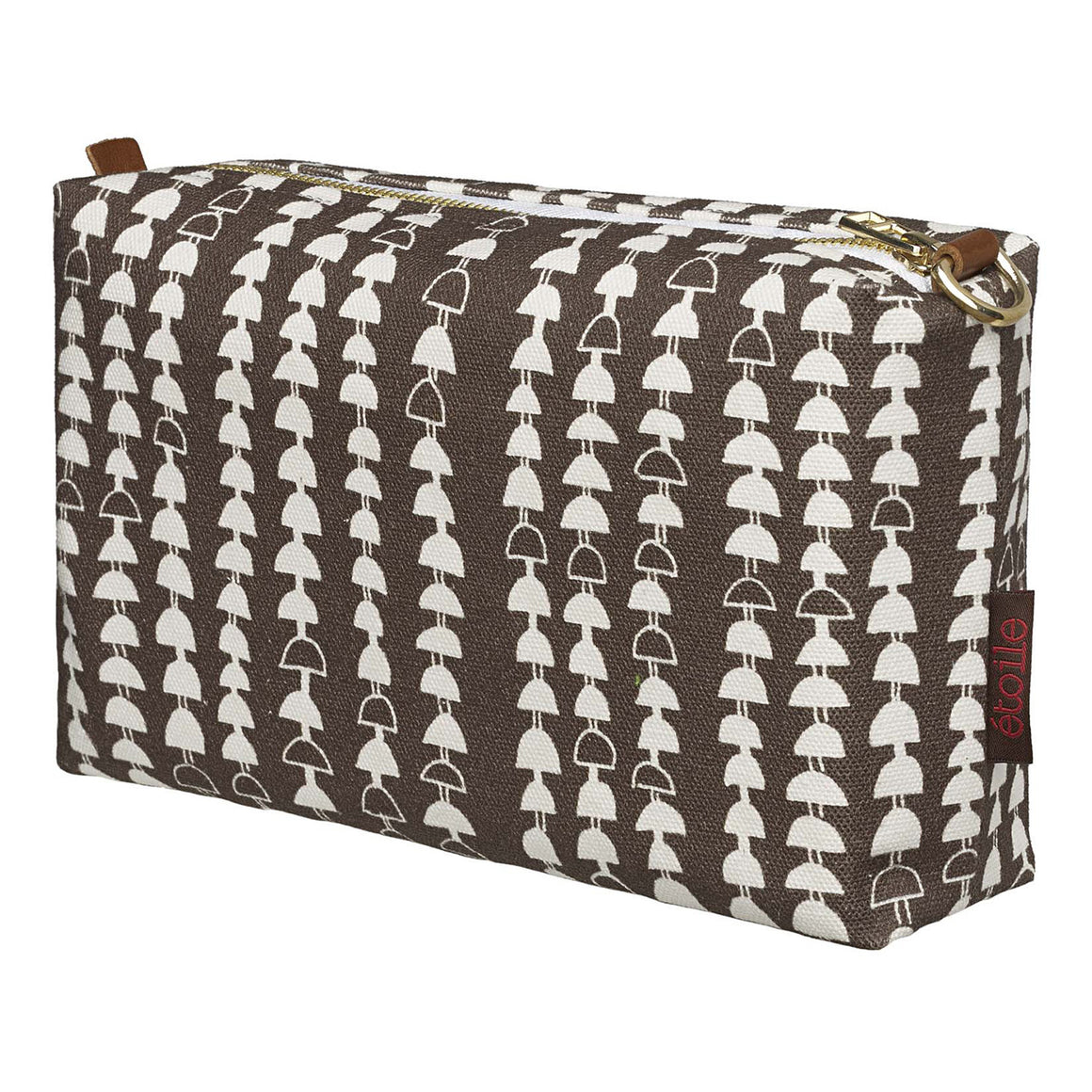 Hopi Graphic Pattern Canvas Toiletry or Wash Travel Bag in Stone Grey Perfect for all your cosmetics, beauty or shaving kit while travelling Ships from Canada (USA)