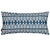 "Tiki Huts Pattern Rectangle Lumbar Throw Pillow Linen Cushion in Dark Petrol Blue 30x60cm 12x24"" Canada USA"