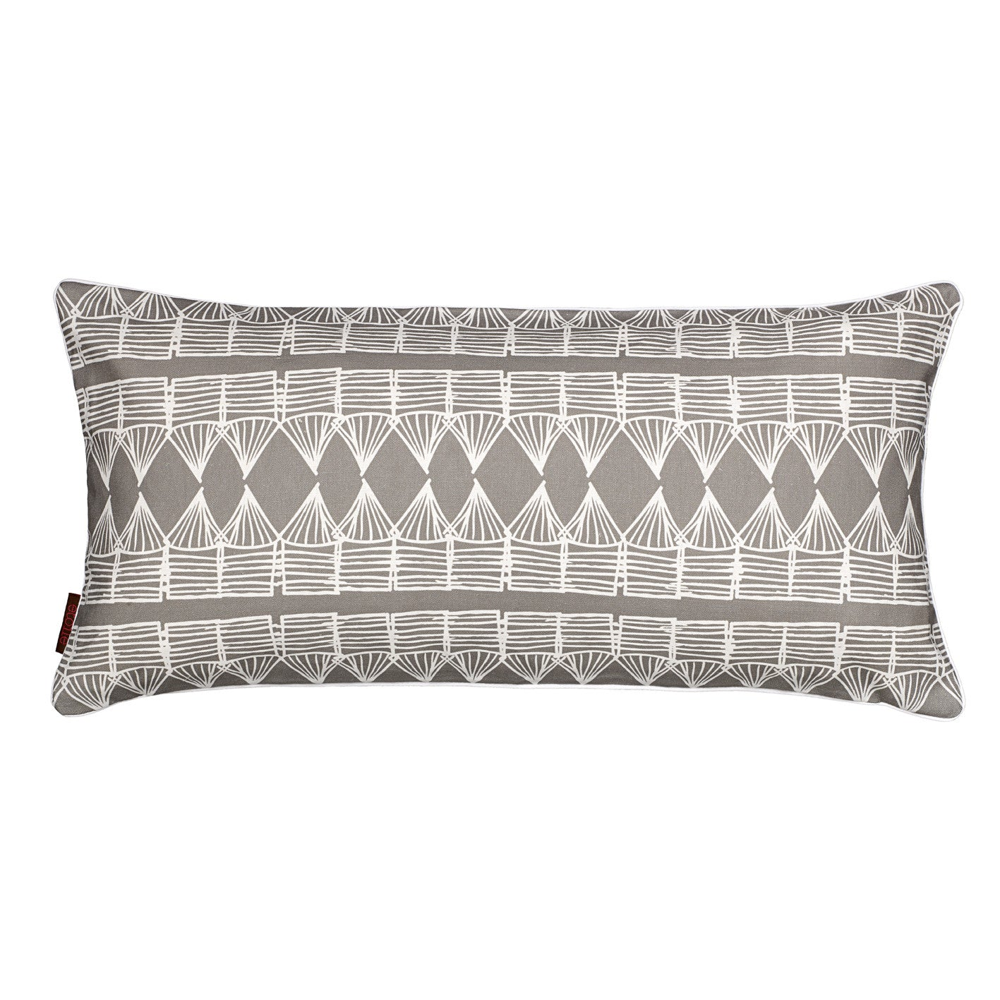 Tiki Huts Pattern Rectangle Decorative Throw Pillow in Light Dove Grey 30x60cm 12x24""