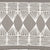 Tiki Huts Pattern Cotton Linen Designer Home Decor Fabric by the meter or by the yard for curtains, blinds, upholstery in Light Dove Grey ships from Canada (USA)
