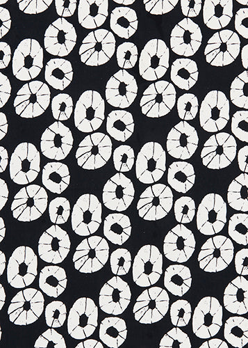 Jellyfish curtain blind upholstery cotton linen fabric black and white ships from Canada worldwide