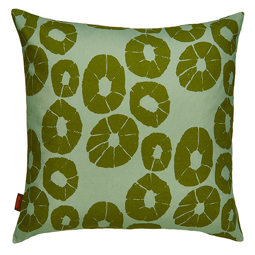 "Jellyfish graphic pattern decorative throw pillow in light sea foam green and olive 55cm or 22"" ships from Canada worldwide including the USA"