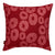 Jellyfish Throw Pillow - Vermilion Red