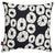 Jellyfish-decorative-throw-pillow-black-white-canada-usa-55cm-22""