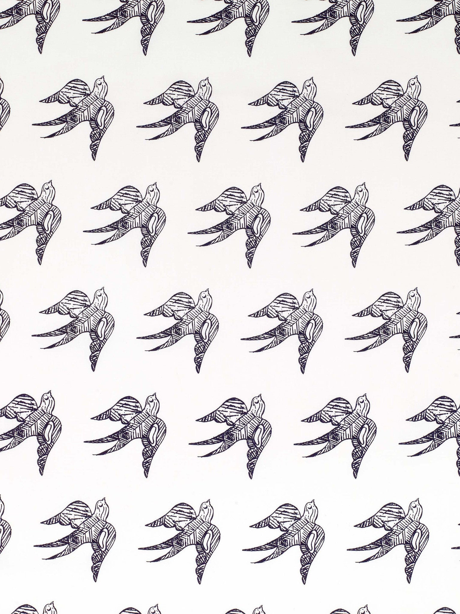 Katia Swallow Bird Pattern Linen Cotton Home Decor Fabric by the Meter or by the yard in Aubergine Purple for curtains, blinds, upholstery ships form Canada (USA)