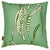 "Kelp-seaweed-pattern-decorative throw pillow in Sea foam and olive green 55cm (22"") ships from Canada worldwide including the USA"