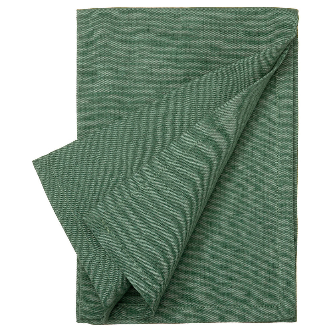 Cotton Linen Union Napkins in Dark Moss Green