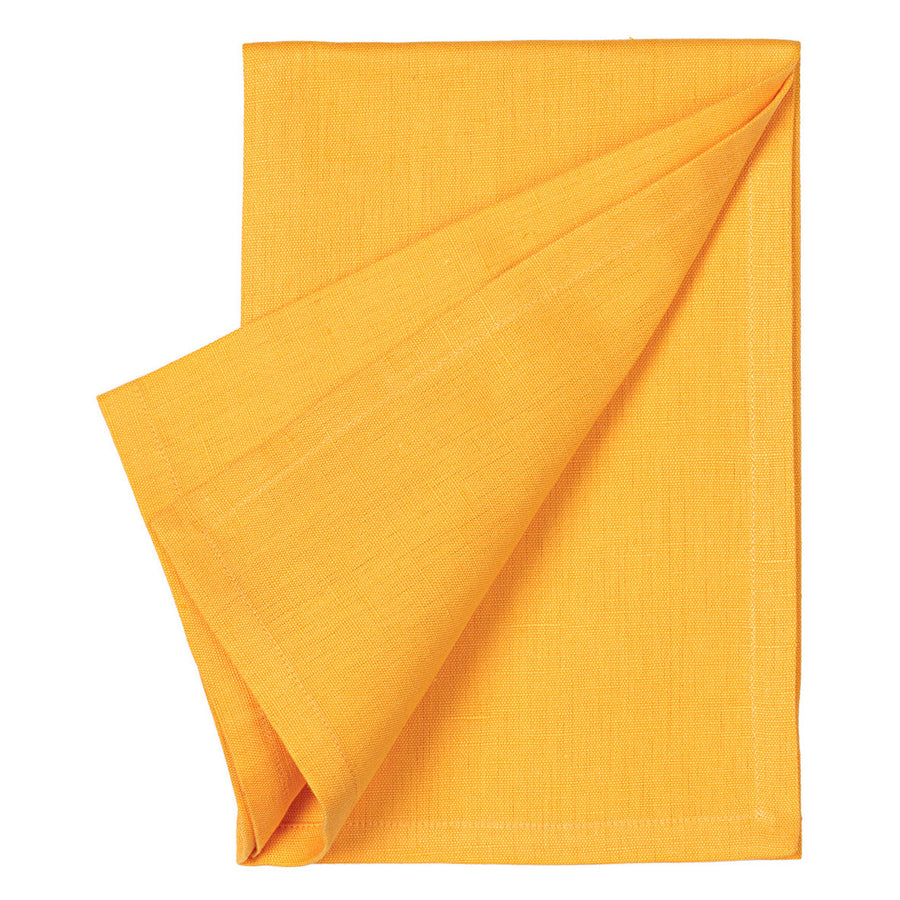 Cotton Linen Union Napkins in Saffron Yellow