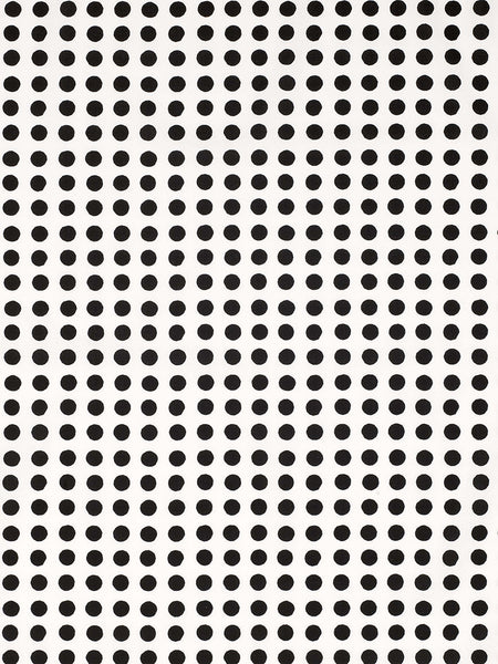 London Polka Dot Pattern Cotton Linen Fabric by the Meter in Black