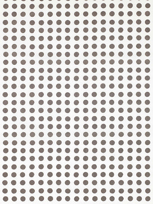London Polka Dot Pattern Cotton Linen Fabric by the Meter in Stone Grey