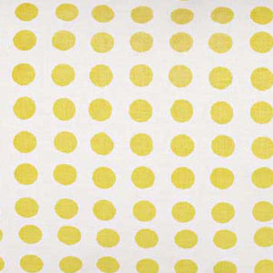 London Polka Dot Pattern Cotton Linen Home Decor Fabric by the Meter or but he yard for curtains, blinds, upholstery in Maize Yellow ships from Canada (USA)