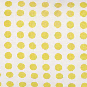 London Polka Dot Pattern Cotton Linen Fabric by the Meter in Maize Yellow