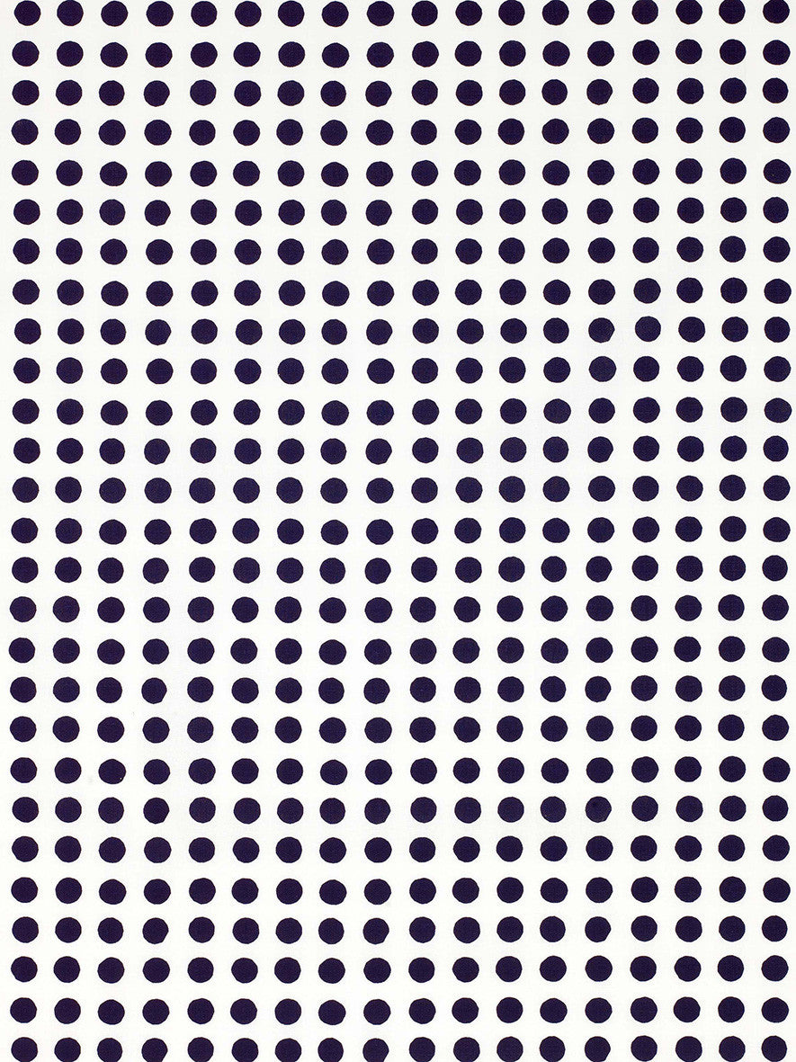 London Polka Dot Pattern Cotton Linen Home Decor Fabric by the Meter or by the yard in Dark Aubergine Purple for curtains, blinds, upholstery ships from Canada (USA)