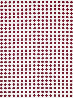 London Polka Dot Pattern Cotton Linen Fabric by the Meter in Vermilion Red