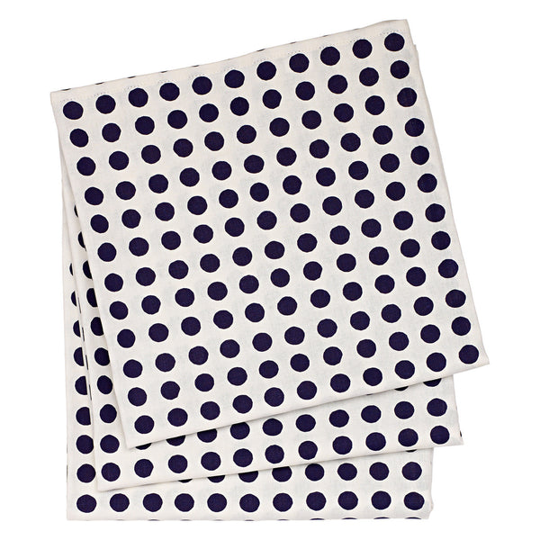 London Polka Dot Linen Tablecloth in Dark Aubergine Purple
