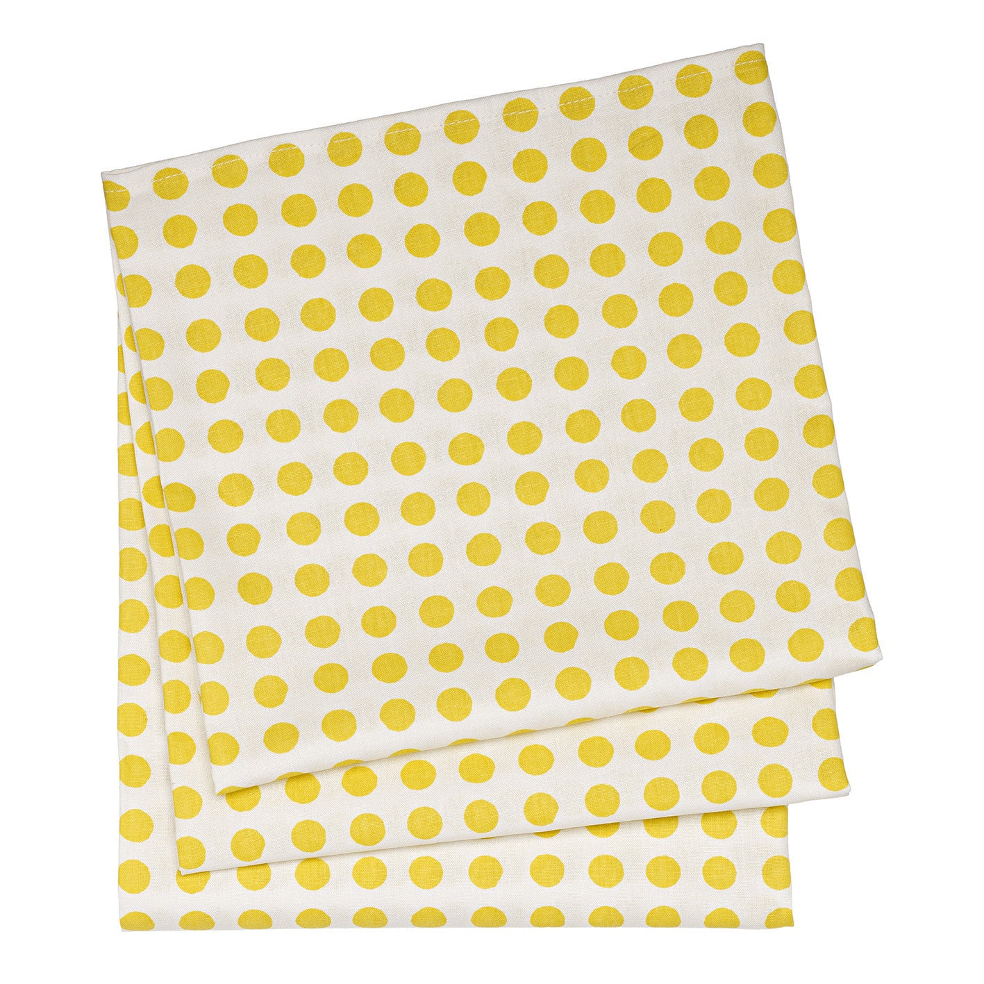 London Polka Dot Cotton Linen Tablecloth in Maize Yellow