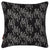 "Maricopa Graphic Grass Pattern Linen Decorative Throw Pillow - Black 45x45cm (18x18"")"