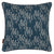 "Maricopa Graphic Grass Pattern Linen Throw Pillow in Dark Petrol Blue 45x45cm 18x18"" Cushion ships from Canada worldwide including the USA"