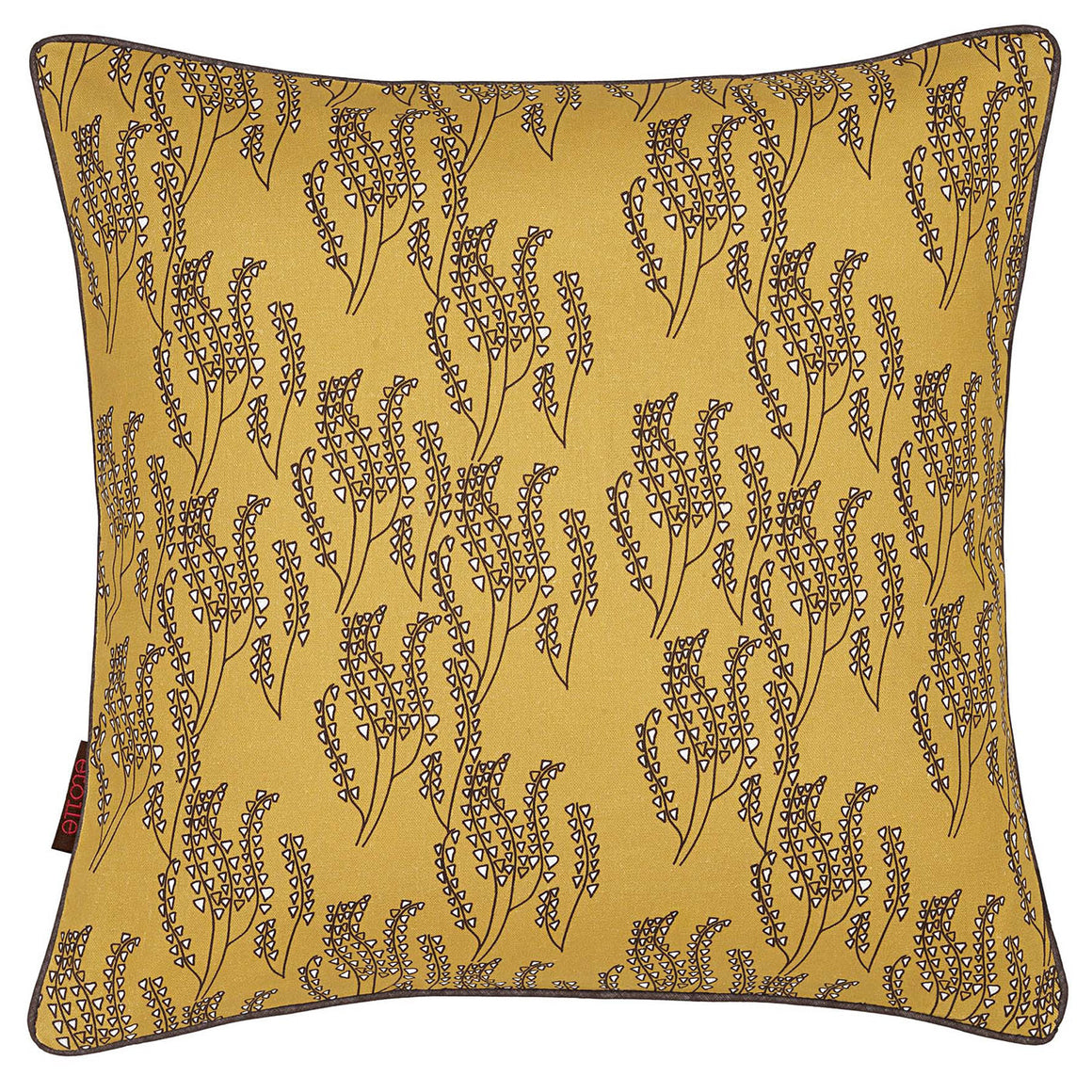 "Graphic Grass Pattern Maricopa Decorative Throw Pillow - Gold 45x45cm (18x18"")"