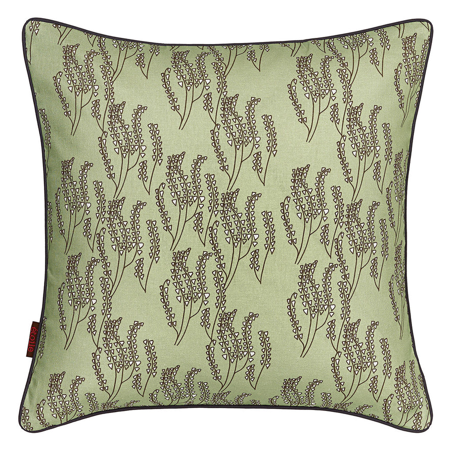 "Maricopa Grass Pattern Linen Cotton Decorative Throw Pillow in Light Eau de Nil Green 45x45cm (18x18"")"