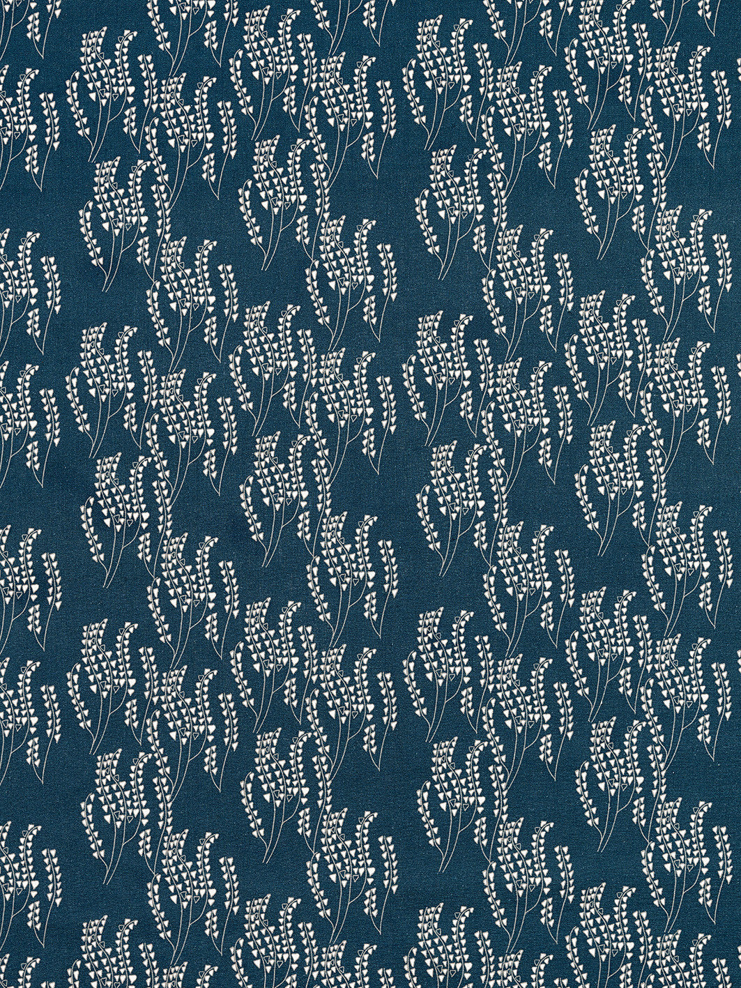 Maricopa Graphic Floral Pattern Cotton Linen Home Decor Fabric by the meter or by the yard for curtains, blinds or upholstery in Dark Petrol Blue and Grey ships from Canada worldwide (USA)