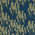 Maricopa Graphic Floral Pattern Cotton Linen Home Decor Fabric by the meter or by the yard for curtains, blinds, or upholstery in Dark Petrol Blue / Maize Yellow ships from Canada worldwide (USA)