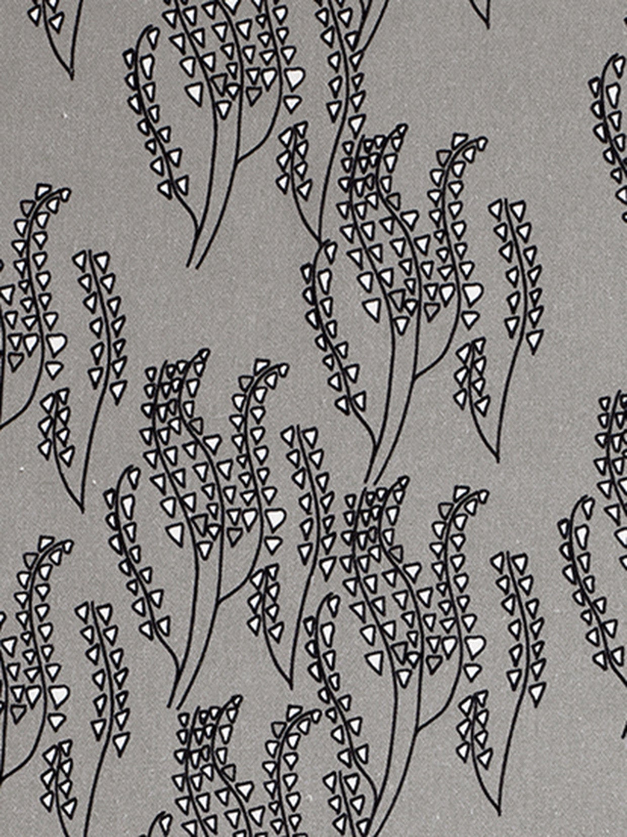 Maricopa Graphic Floral Pattern Cotton Linen Home Decor Fabric by the yard or by the meter for curtains, blinds, upholstery in Light Dove Grey - Black ships from Canada worldwide (USA)