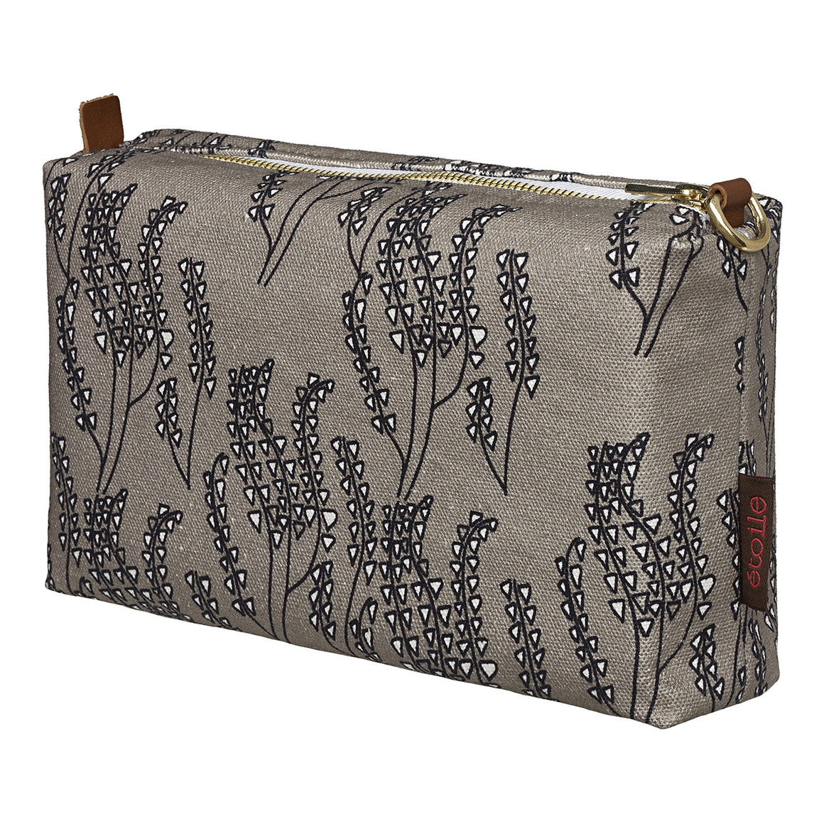 Maricopa Graphic Floral Pattern Canvas Toiletry Travel or Wash Bag in Dove Grey & Black Perfect for all your beauty and cosmetic needs while travelling Ships from Canada (USA)