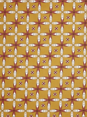 Navajo Ethnic Geometric Pattern Cotton Linen Home Decor Fabric by the meter or by the yard for curtains, blinds, upholstery - Gold - Canada (USA)
