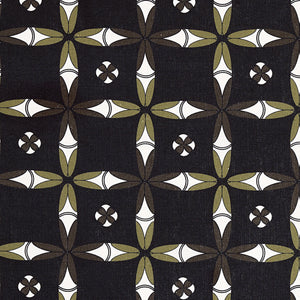 Navajo Ethnic Geometric Pattern Cotton Linen Home Decor Fabric by meter or by the yard for curtain, blinds or upholstery - Black- ships from Canada (USA)