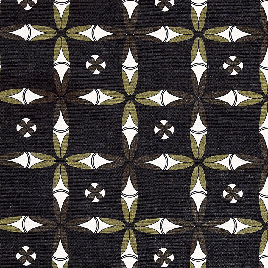 Navajo Ethnic Geometric Pattern Cotton Linen Home Decor Fabric by meter or by the yard for curtains, blinds, or upholstery - Black- ships from Canada (USA)
