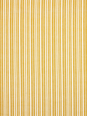Palermo Ticking Stripe Cotton Linen Fabric by the Meter in Mustard Gold