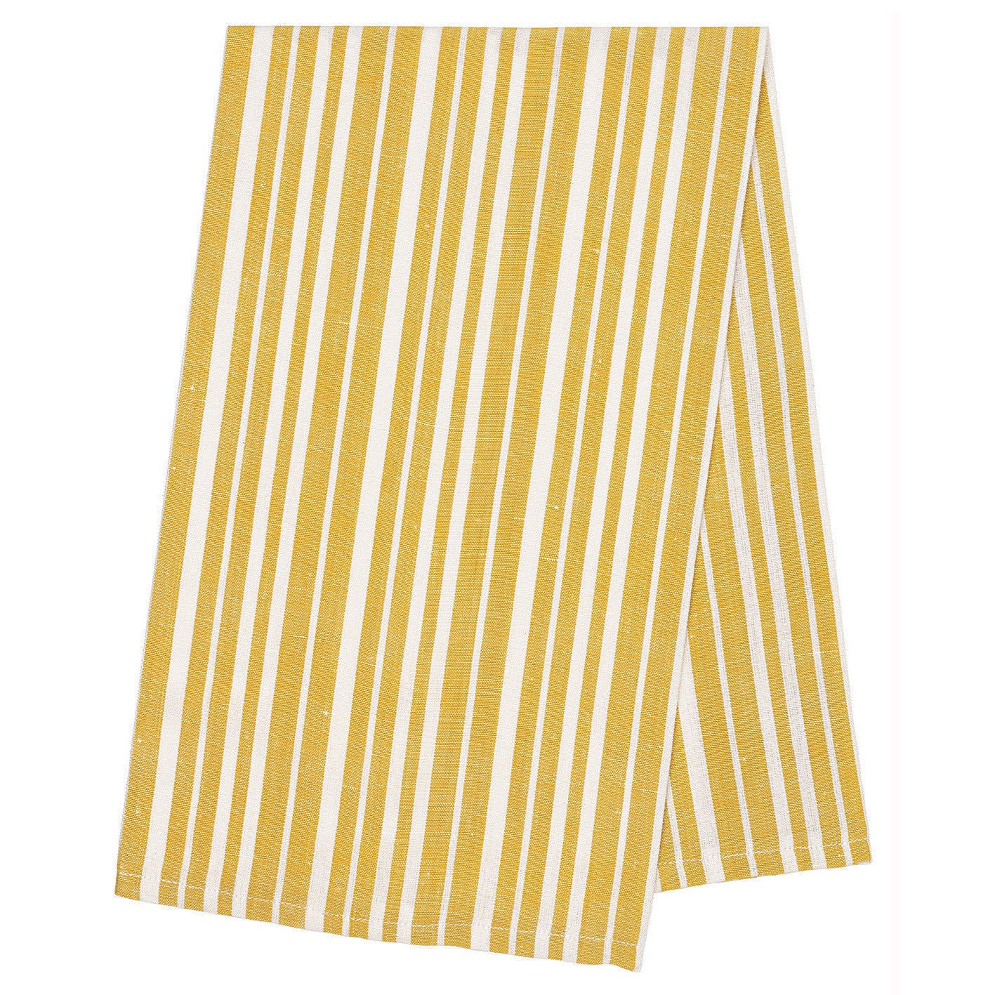 Patterned & Striped Linen Cotton Tea Towels in Yellow