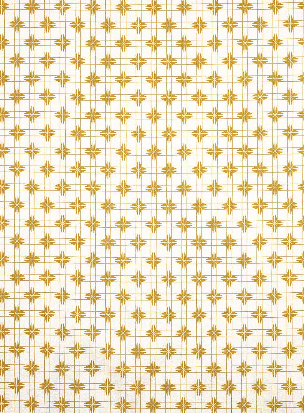 Pueblo Geometric Pattern Cotton Linen Home Decor Fabric by the meter or the yard - Gold- curtains, blinds, upholstery ships from Canada