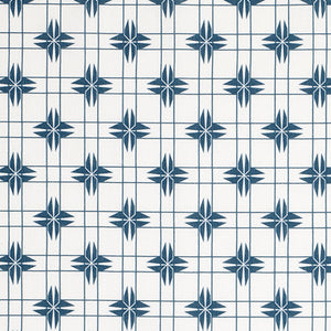 Pueblo Geometric Pattern Cotton Linen Home Decor Fabric by the yard or by the meter for curtains, blinds or upholstery - Petrol Blue- ships from Canada (USA)