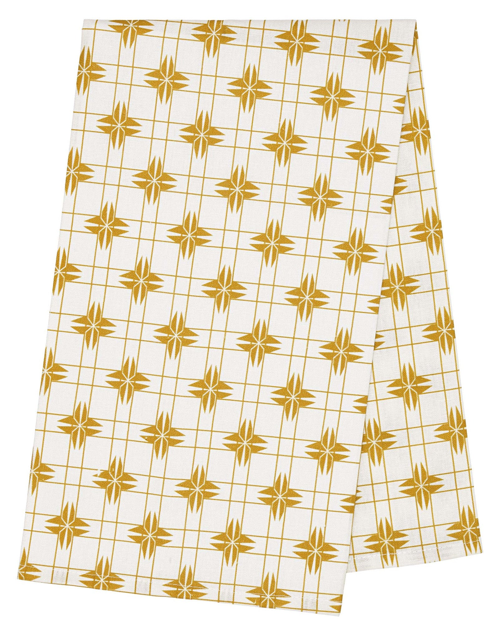 Pueblo Tea Towel - Gold