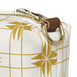 Pueblo Geometric Pattern Canvas Wash (toiletry) Bag - Gold
