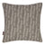 Graphic Adams Rib Pattern Linen Union Printed Decorative Throw Pillow in Light Dove Grey and White