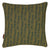 Graphic Adams Rib Pattern Linen Union Printed Throw Pillow in Antique Moss Green and Petrol Blue
