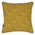 Graphic Rosemary Pattern Linen Union Printed Throw Pillow in Mustard Yellow and Olive Green Ships from Canada worldwide