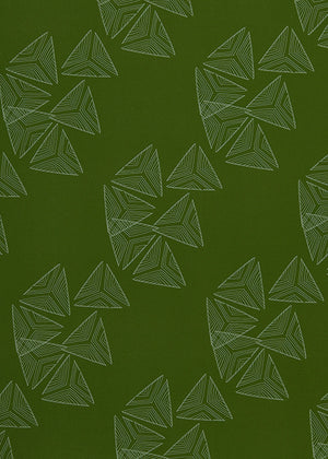 Sails pattern home decor interiors fabric for curtains, blinds and upholstery in Olive and Sea Foam Green available by the meter or yard ships from Canada worldwide including the USA