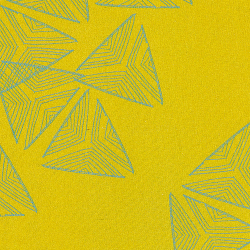 Sails pattern home decor interiors fabric for curtains, blinds and upholstery in Mustard Yellow and Sea Foam Green available by the meter or yard ships from Canada worldwide including the USA