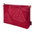 Sails pattern vanity toiletry bag in dark vermilion red ships from Canada worldwide including the USA